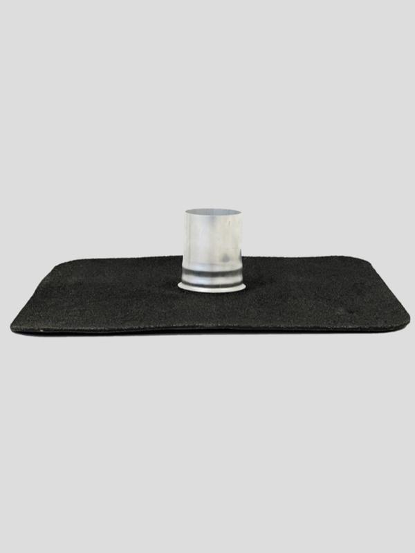 Afdichtingsmanchette CofaPro met slab bitumen bovenlaag granulaatzwart 4 mm diam. 111-125mm