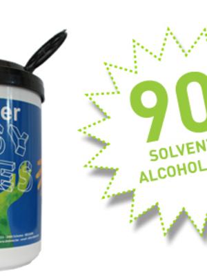 De Boer Easy Wipes ( verwijdert alle vervuilingen ) 90 doekjes/pot