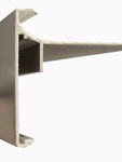 Aluminium dakrandprofiel 60x62 mm RAL / STRUCTUUR ( L : 3000 mm )