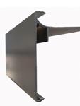 Aluminium dakrandprofiel 80x62 mm RAL / STRUCTUUR ( L : 3000 mm )