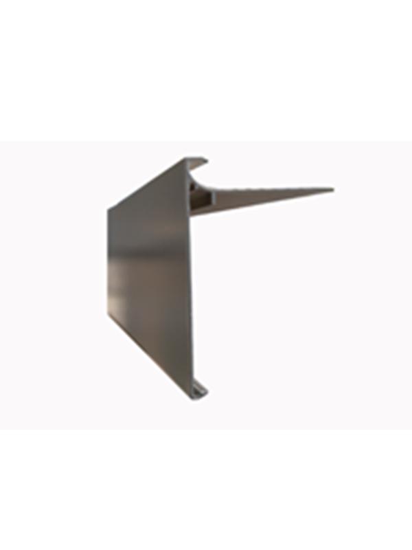 Aluminium dakrandprofiel 100x62 mm anodisé ( L : 3000 mm )