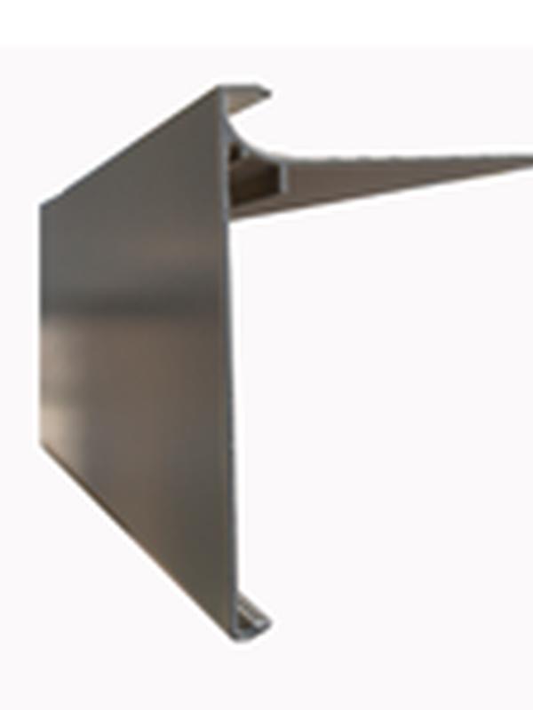 Aluminium dakrandprofiel 100x62 mm RAL / STRUCTUUR ( L : 3000 mm )