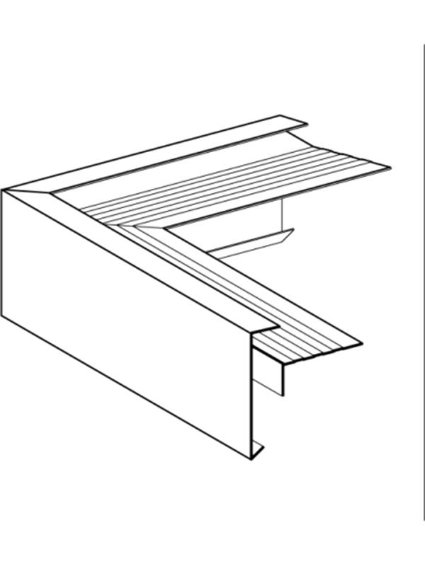 Buitenhoek gelast 60x62 mm anodisé ( 400 mm x 400 mm )