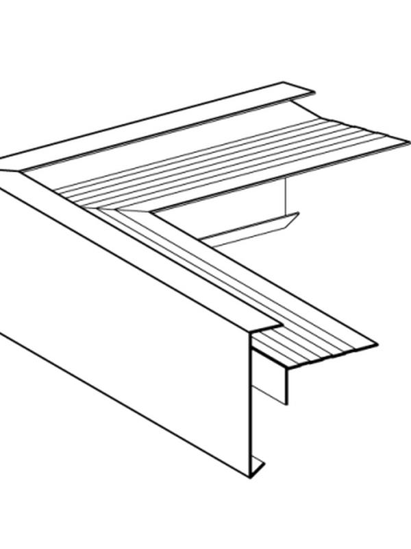 Buitenhoek gelast 60x62 mm RAL / STRUCTUUR ( 400 mm x 400 mm )