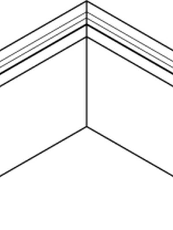 Binnenhoek gelast 80x62 mm RAL / STRUCTUUR ( 400 mm x 400 mm )