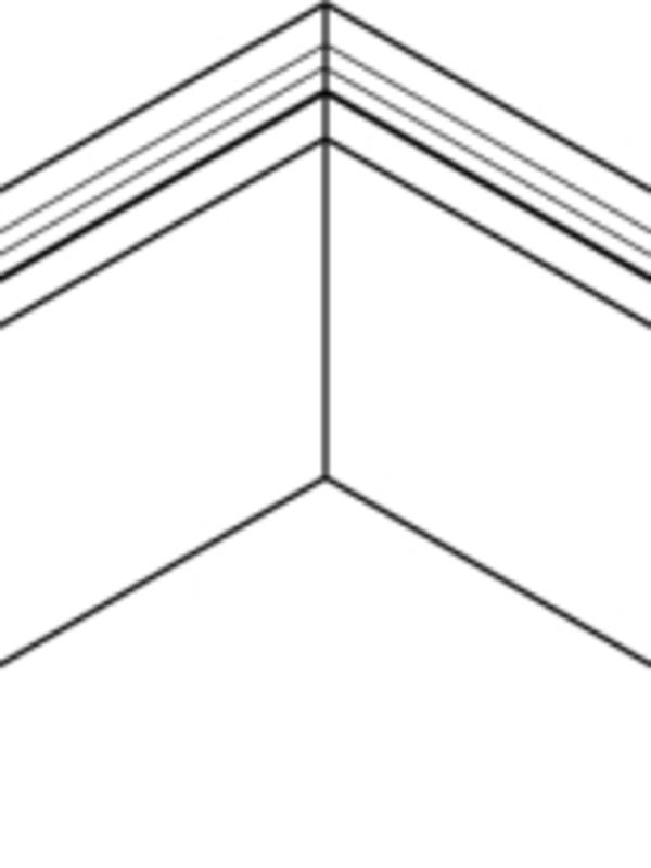 Binnenhoek gelast 100x62 mm RAL / STRUCTUUR ( 400 mm x 400 mm )